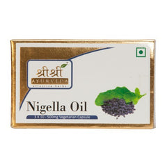 Sri Sri Nigella Oil In Veg Capsules (500Mg) [3x10]