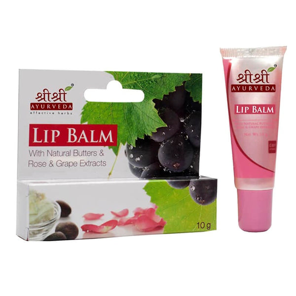 Sri Sri Lip Balm With Natural Butters & Rose & Grapes Extracts
