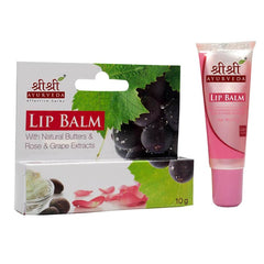 Shri Shri Lip Balm With Natural Butters & Rose & Grapes Extracts 10 Gm