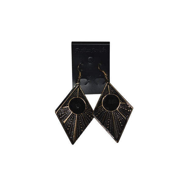 Mayo Oxidized Black & Gold Plated Stylish Hanging  Earring For Woman