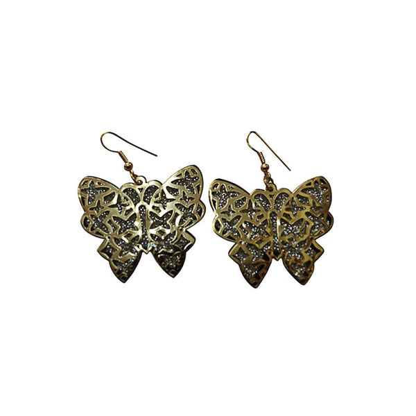 Mayo Butter Fly Gold & Sliver Plated Hanging Earring For Women