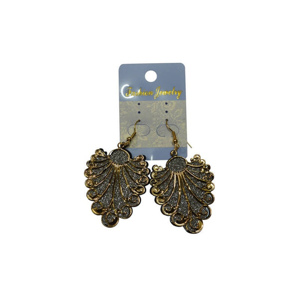 Mayo Gold & Silver Plated Stylish Hanging Earrings