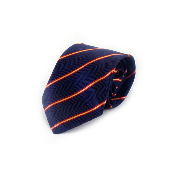 Mayo Design Tie BLUE & red yellow lining