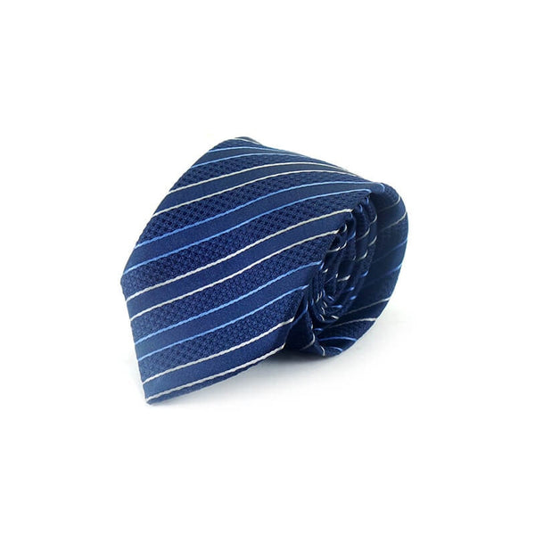 Mayo Design Tie dark blue & white blue lining
