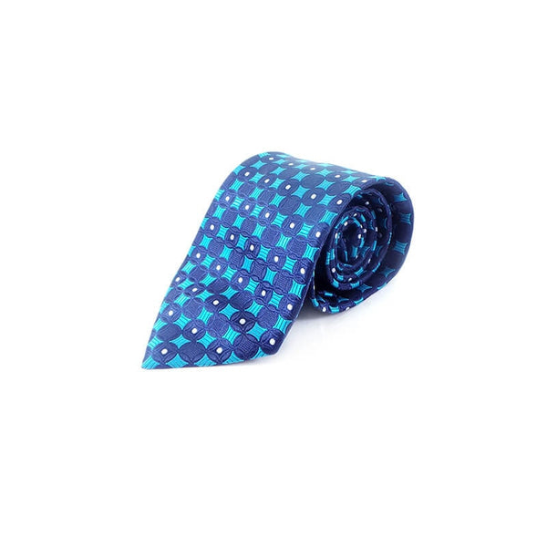 Mayo Design Tie cyan & black circle