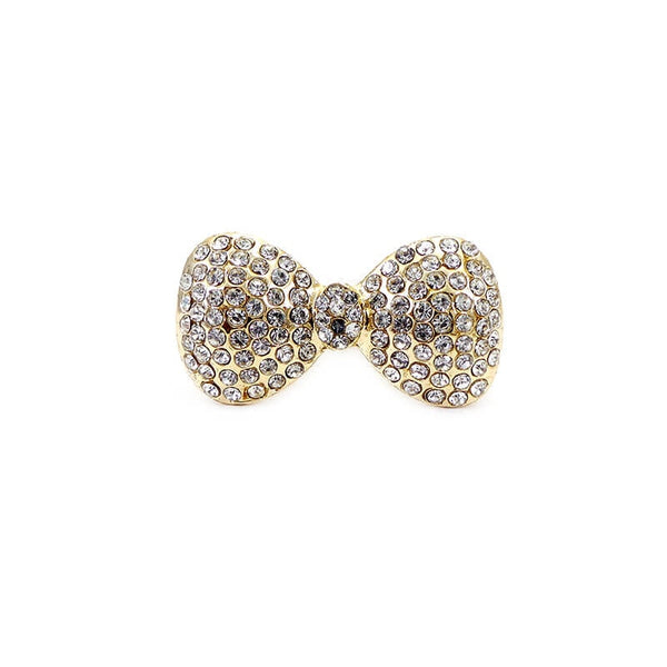 Mayo Gold Plated Bow Ring (Size-17)