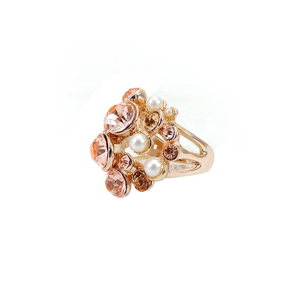 Mayo Pearl Stone Ring(Adjustable)