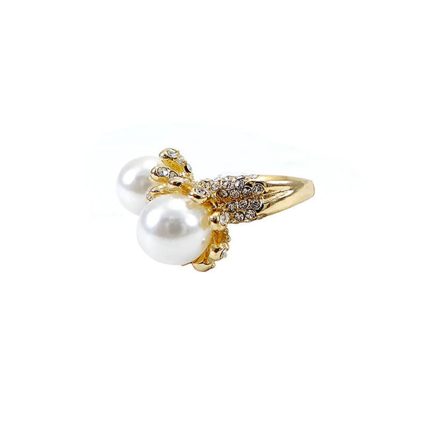 Mayo Pearl With Stone Golden Ring(Size-18)