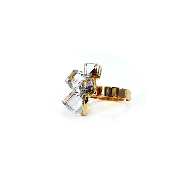 Mayo Rainbow Stone Ring(Adjustable) 1 Pc