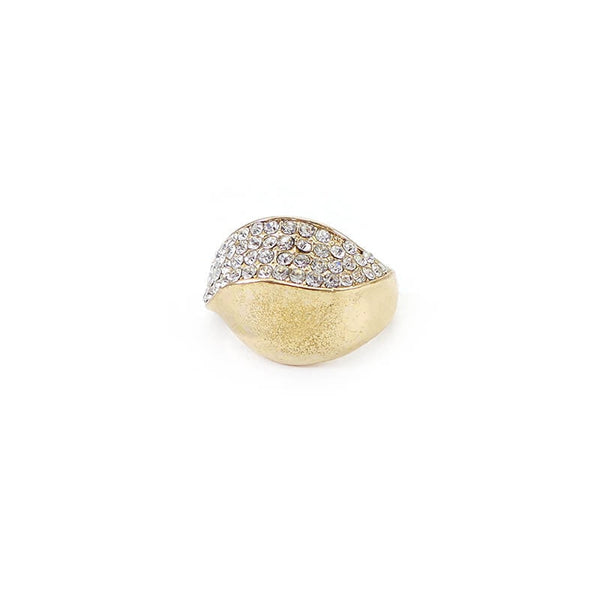 Mayo Gold Plated Stone Ring(Size-18) 1 Pc
