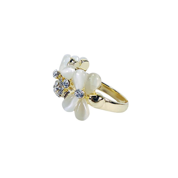 Mayo Three Flower Ring (Size-18)
