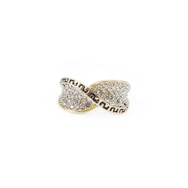 Mayo Stones Gold Plated Ring (Size-18)