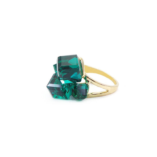 Mayo Green Stone (Adjustable) Ring 1 Pc