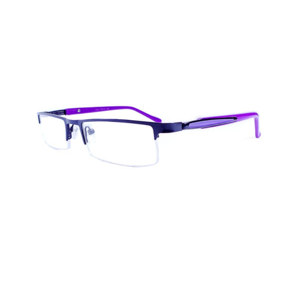 Abbott Purple Half Frame Eyewear For Men