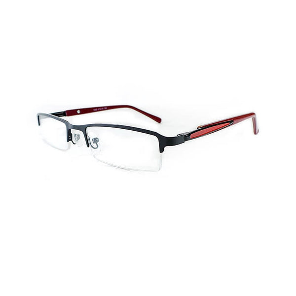 Abbott Mehroon Half Frame Eyewear For Men