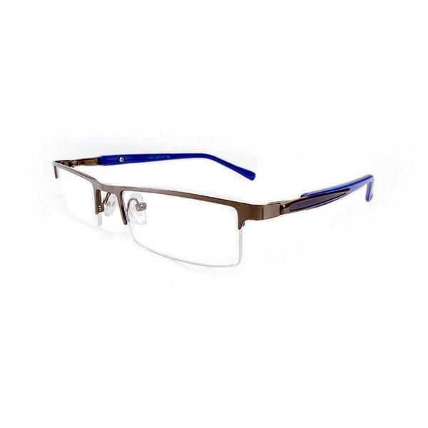 Abbott Blue Half Frame Eyewear For Men