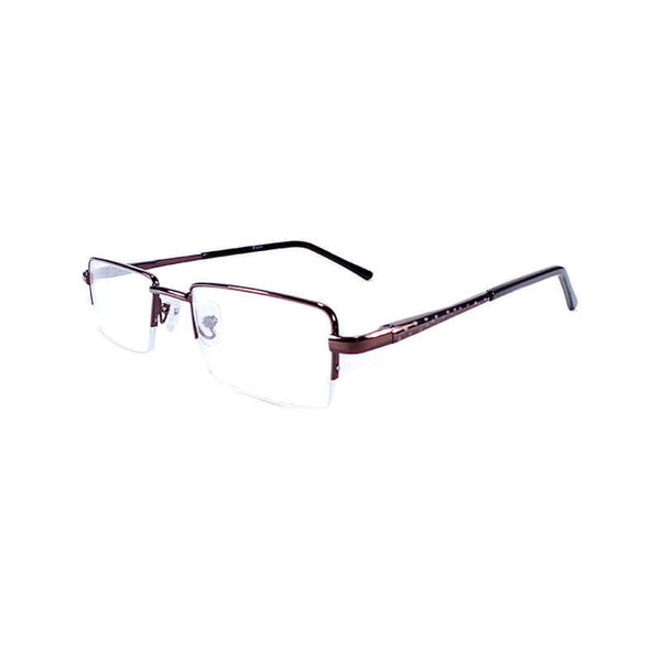 Raden Brown Half Frame Eyewear For Men