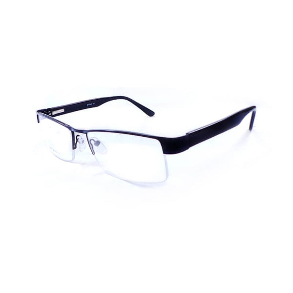 Prince Black Half Frame Eyewear For Men