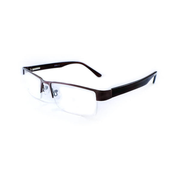 Prince Brown Half Frame Eyewear For Men