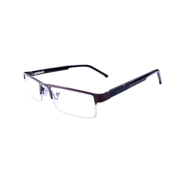 Intime Brown Half Frame Eyewear For Men