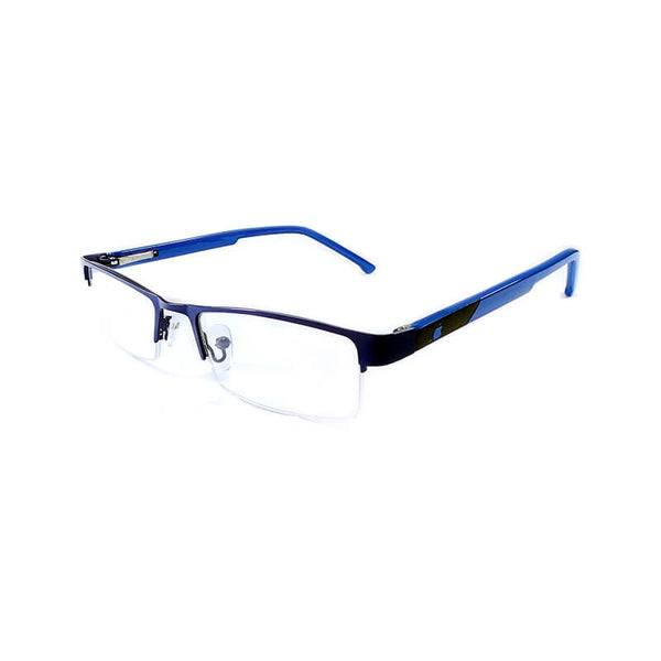 Intime Blue Half Frame Eyewear For Men