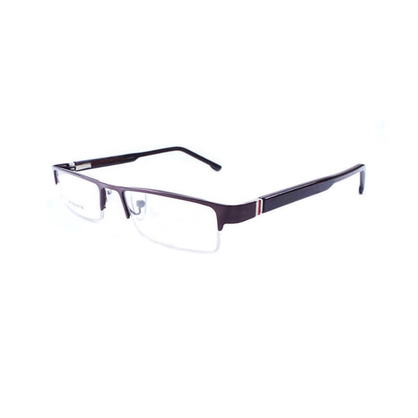 See Green Brown Half Frame Eyewear For Men