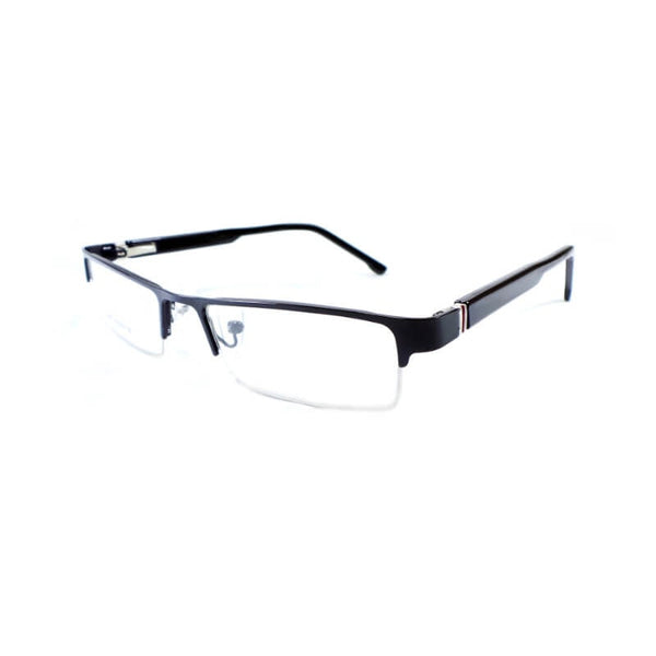 See Green Black Half Frame Eyewear For Men