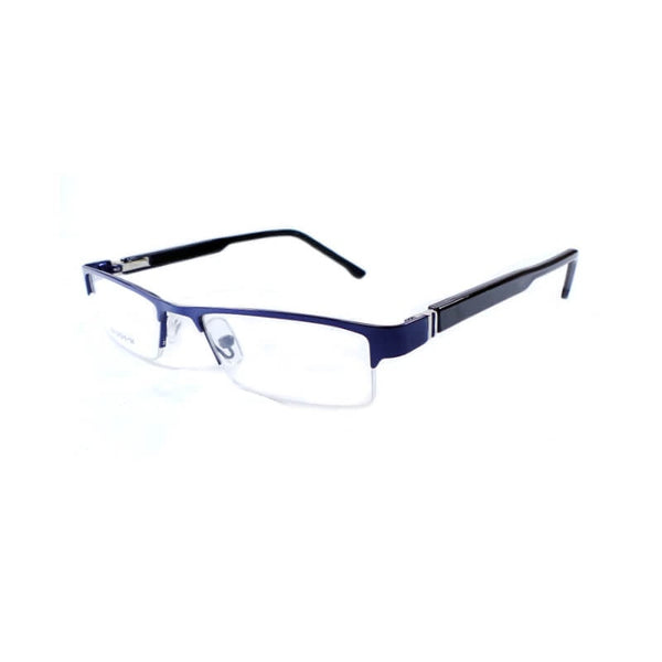 See Green Blue & Black Half Frame Eyewear For Men 1 Pc