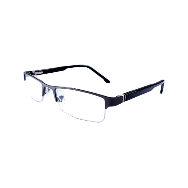 See Green Black & Dark Gray Half Frame Eyewear For Men