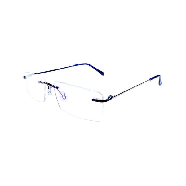 Goeed Blue Rimless Frame Eyewear For Men
