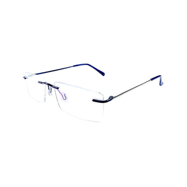 Mexws Black & White Rimless Frame Eyewear For Men