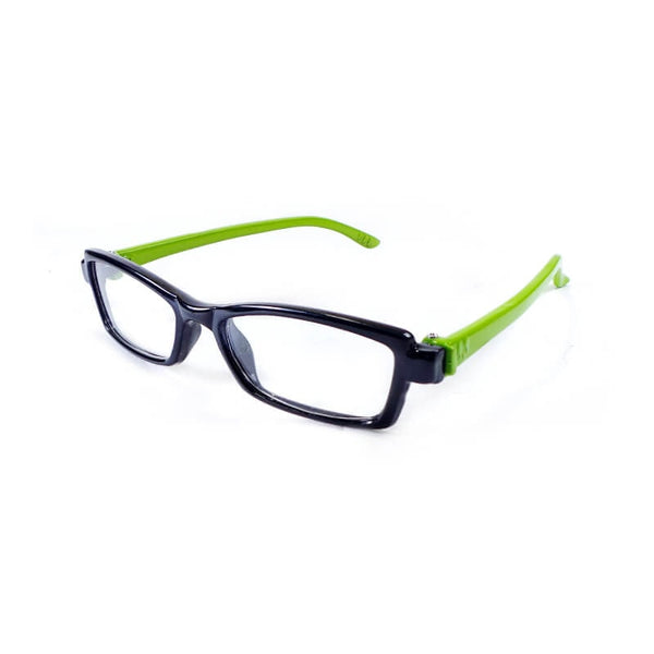 Teens Black & Green Full Frame Eyewear For Kids