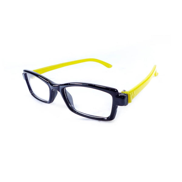Teens Black & Yellow Full Frame Eyewear For Kids