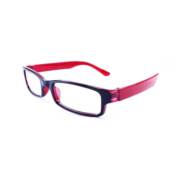 Teens Black & Red Full Frame Eyewear For Boys