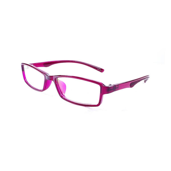Yong Long Purple Rectangular Frame Eyewear For Men