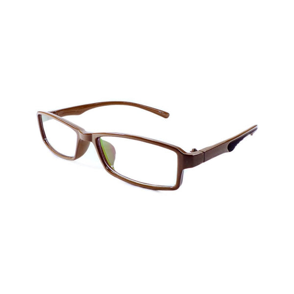 Yong Long Brown Rectangular Frame Eyewear For Men