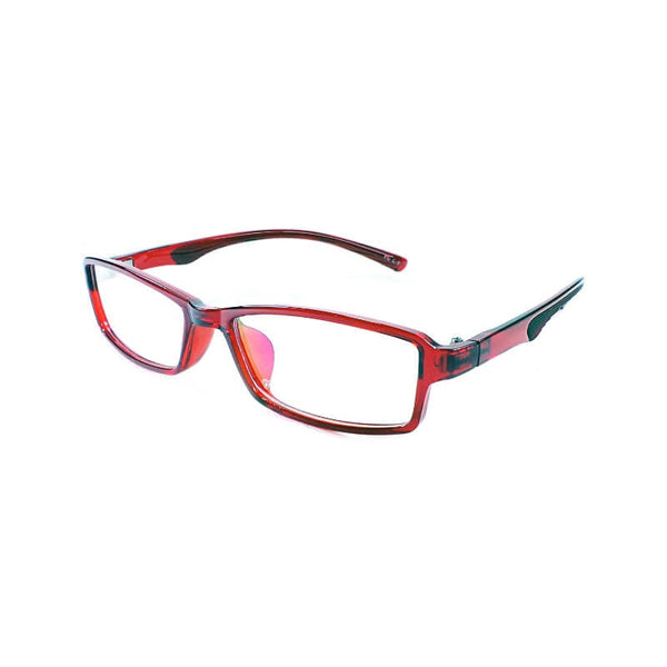 Yong Long Red Rectangular Frame Eyewear For Men