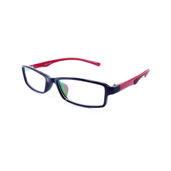 Silken 360 Mehroon & Black Rectangular Frame Eyewear For Men