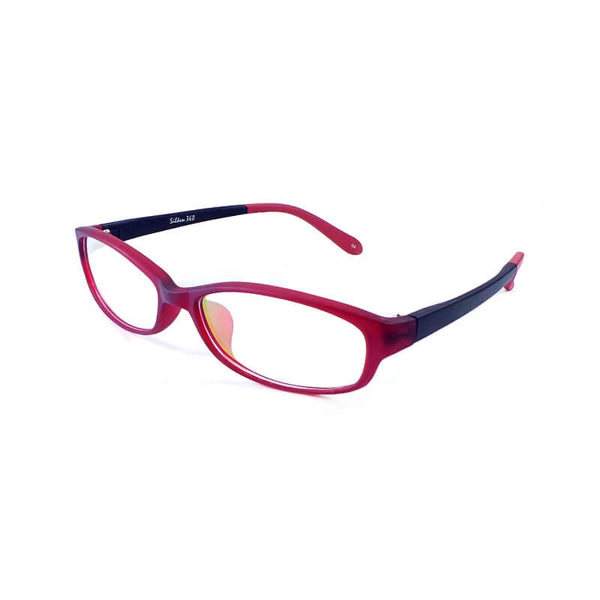 Silken 360 Mehroon & Black Oval Frame Eyewear For Men