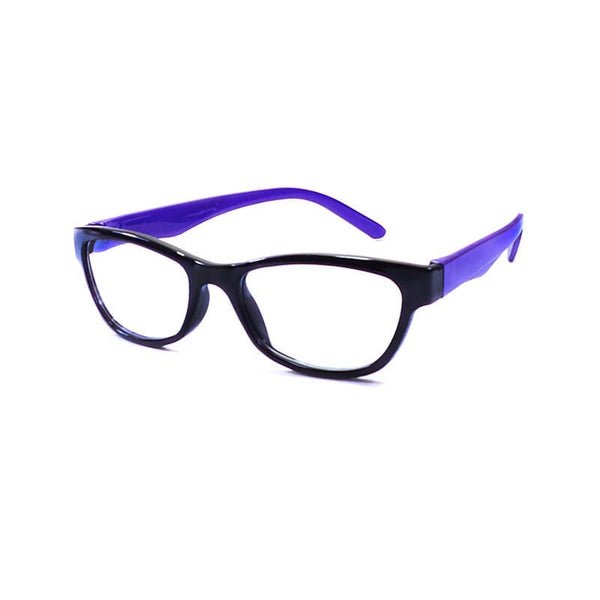 Desire Black & Purple Oval Frame Eyewear For Women