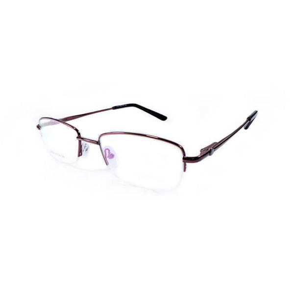 Weaond Brown Half Frame Eyewear For Women 1 Pc