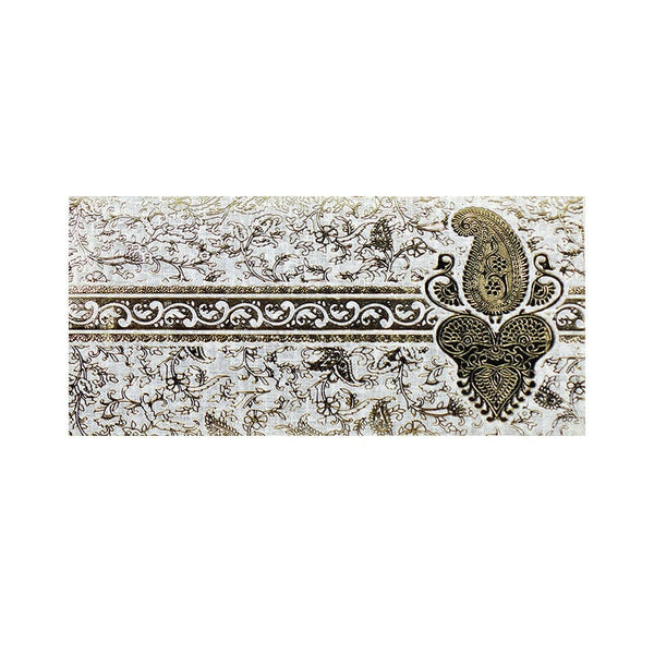 Mayo Shagun Gold Fancy Design Envelopes-Grey