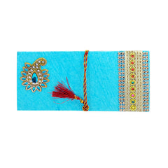 Mayo Shagun Premium Fancy Envelopes-Sky Blue 1 Pc
