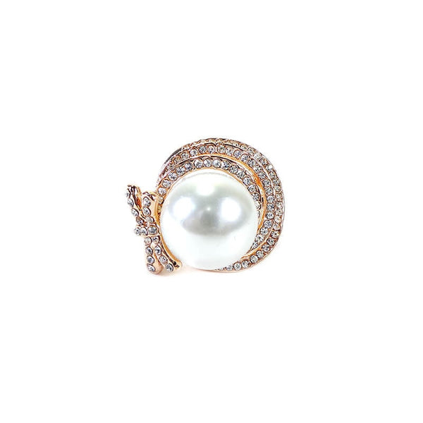 PEARL STONE FINGER RING (SIZE 18)