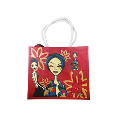 Mayo Carry Bags With Girls Printed For Red