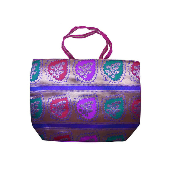 Mayo Leaves Printed Carry Bags For Pink Background
