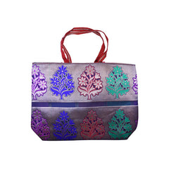 Mayo Flower Printed Carry Bags For Red Background