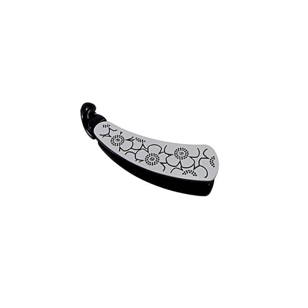 Mayo Fancy Black & White Banana Clip
