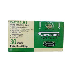Globe Paper Clips Streamlined Shape 1000 Pc