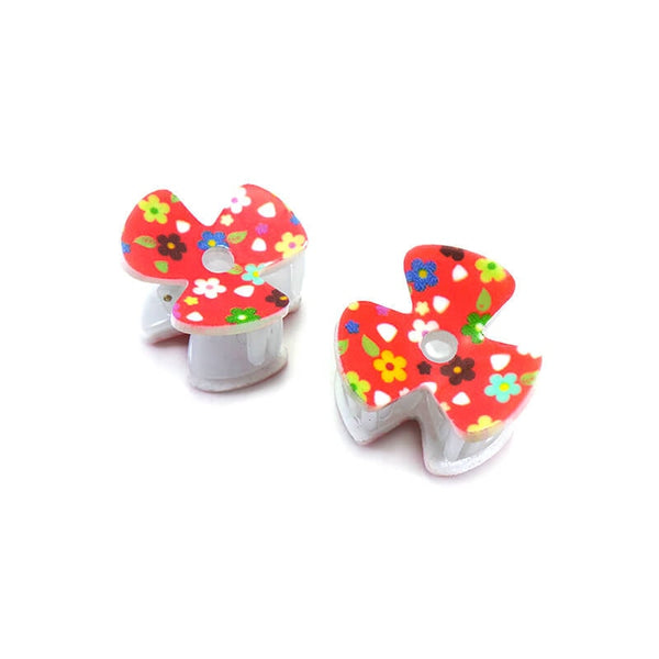 Mayo Flower Hair Clutcher Pack of 2 Pcs RED